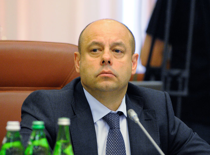 Ukrainian Minister of Energy and Fuel Yury Prodan during a meeting of the government. (RIA Novosti/Alexandr Maksimenko)