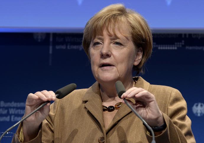 German Chancellor Angela Merkel. (Reuters/Fabian Bimmer)