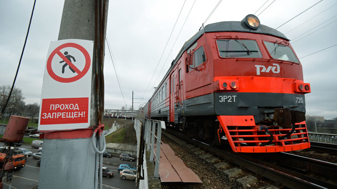Off the rails: Mystery man steals, crashes Moscow train