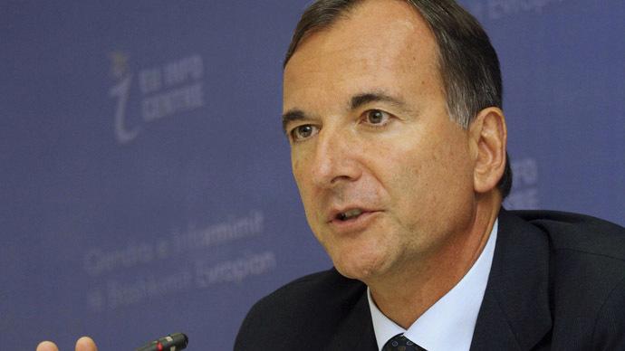 Italian Foreign Minister Franco Frattiniю (Reuters/Arben Celi)