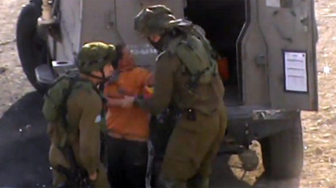 ​IDF soldiers handcuff, blindfold 11yo mentally ill Palestinian (VIDEO)