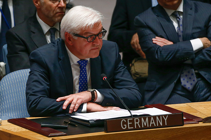 German Minister of Foreign Affairs Frank-Walter Steinmeier (Reuters / Shannon Stapleton)