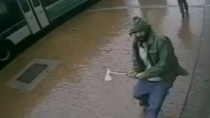Wrong head: NYPD cop kicks fellow officer, mistaking him for suspect (VIDEO)
