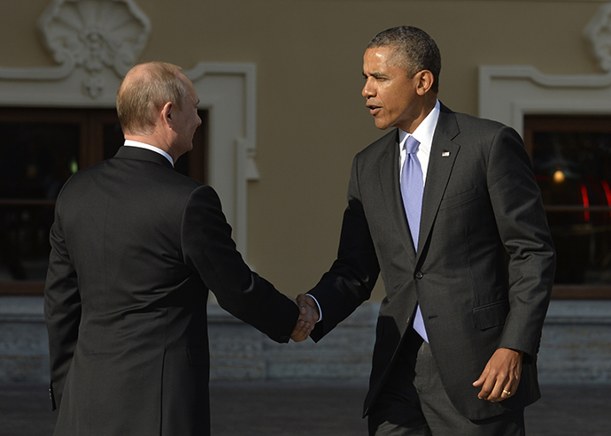 Russia's President Vladimir Putin (L) and US President Barack Obama (AFP Photo / Eric Feferberg)