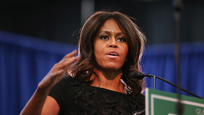 Michelle Obama hits campaign trail, confuses Democratic candidate for Republican opponent (VIDEO)