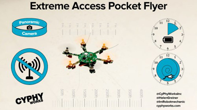 Unjammable pocket-size drone to descend on US Air Force (VIDEO)