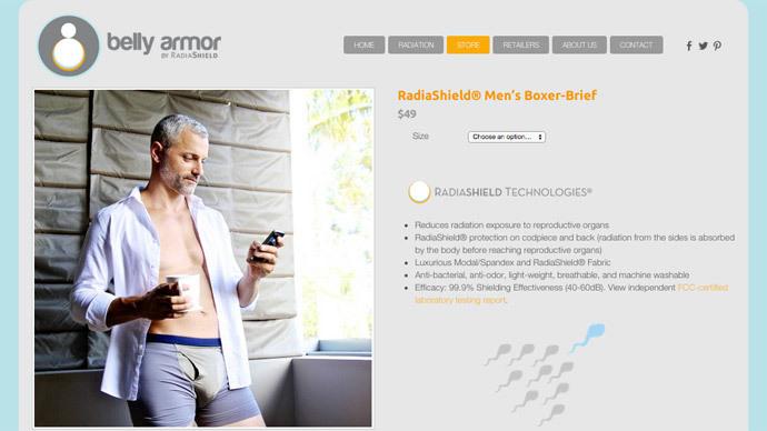 Screenshot from bellyarmor.com