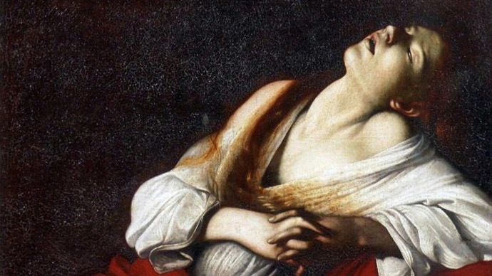"""Mary Magdalene in Ecstasy"" from private collection attributed by Gregori to Caravaggio. Photo: LA REPUBBLICA"