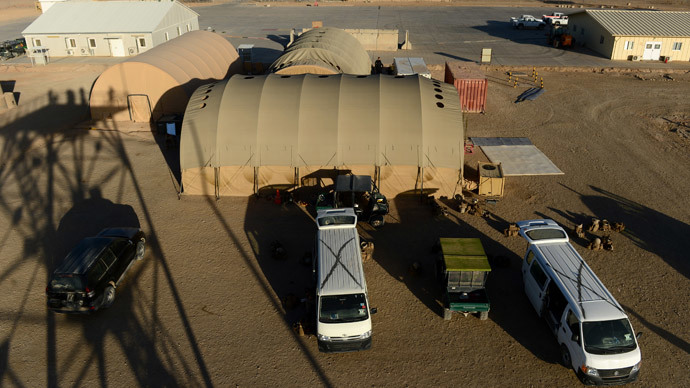 A general view of the Camp Bastion-Leatherneck complex at Lashkar Gah in Helmand province on October 25, 2014.(AFP Photo / Wakil kohsar)