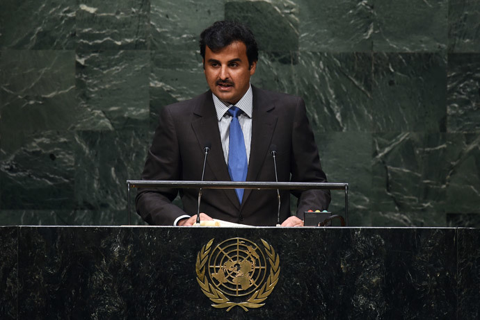 The Emir of Qatar, Amir Sheikh Tamim bin Hamad Al-Thani. (AFP Photo / Jewel Samad)