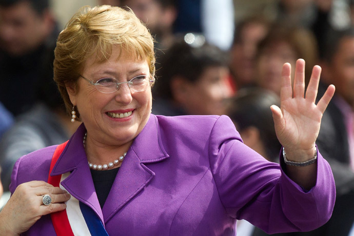 Chilean President Michelle Bachelet (AFP Photo / Claudio Reyes)
