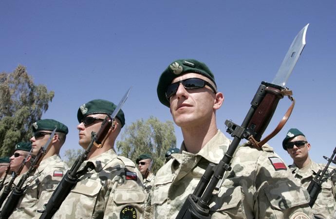 Polish soldiers (AFP Photo/Ceerwan Aziz)