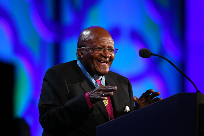 Archbishop Desmond Tutu (Adam Bettcher/Getty Images for Starkey Hearing Foundation/AFP)