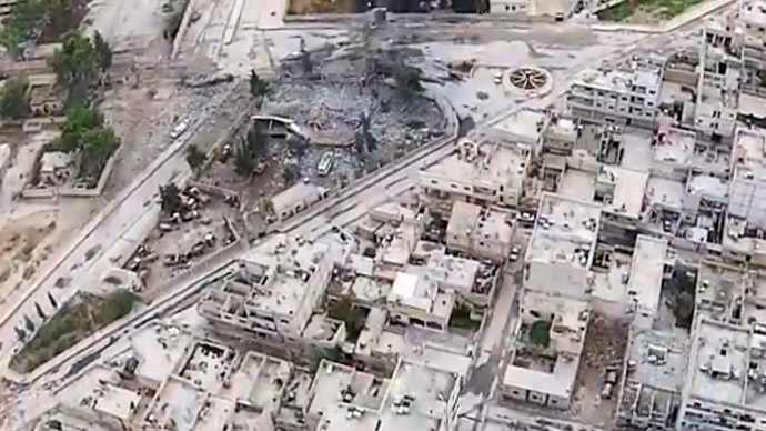 Screenshot from a video released by Islamic State allegedly showing Kobani.