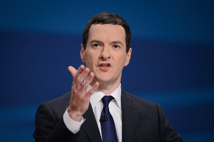 Britain's Chancellor of the Exchequor, George Osborne. (AFP Photo)