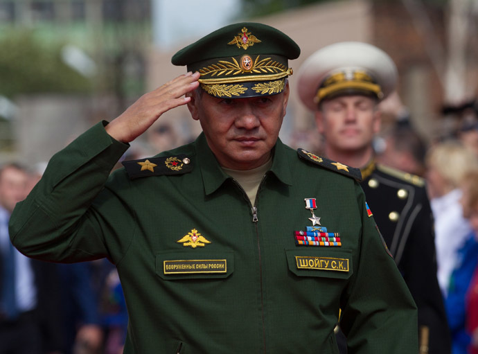 Russian Defense Minister Sergey Shoigu. (RIA Novosti/Igor Russak)