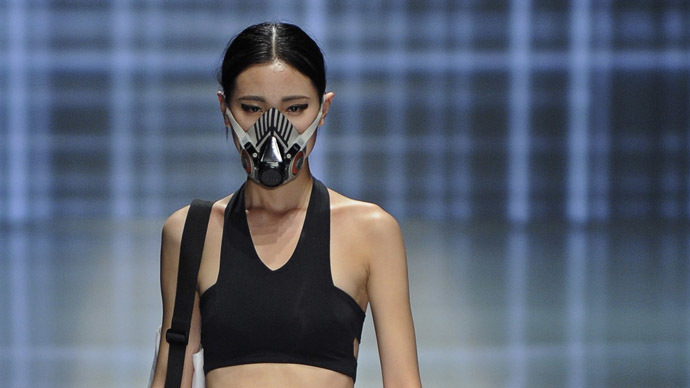 Smog Couture Facemasks On Catwalk At China S Fashion Week