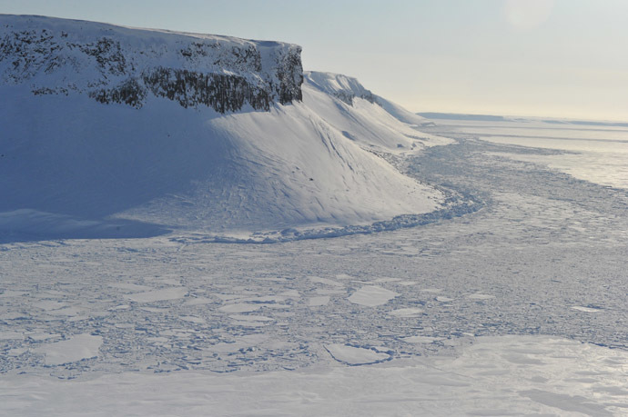 Panorama of the Franz Josef Land Archipelago. (Reuters/Vladimir Baranov)