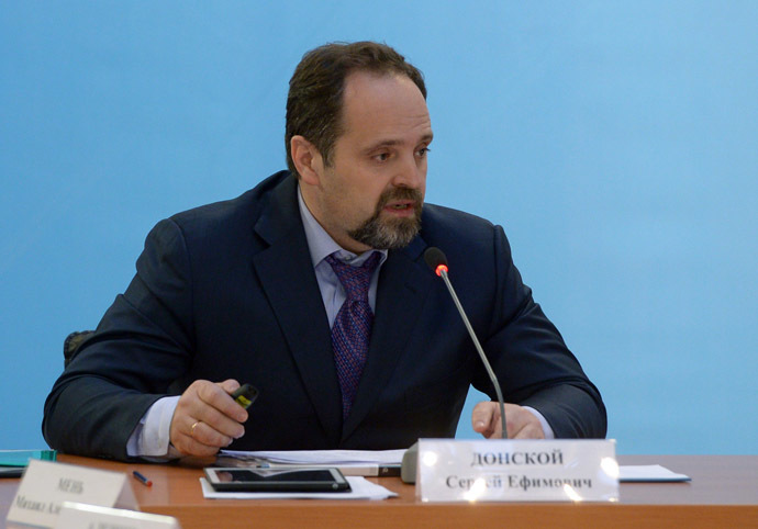 Russian Minister of Natural Resources and Ecology Sergey Donskoy. (RIA Novosti/Alexander Astafyev)