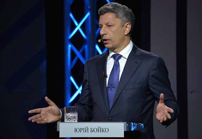Leader of the Opposition Bloc Yury Boyko (RIA Novosti / Evgeny Kotenko)