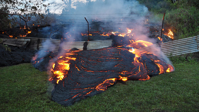 Hawaii volcano about to consume its first home, with lava meters away