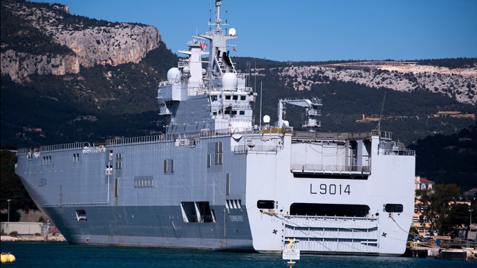 Mistral deal: France says delivery of warships to Russia still on hold