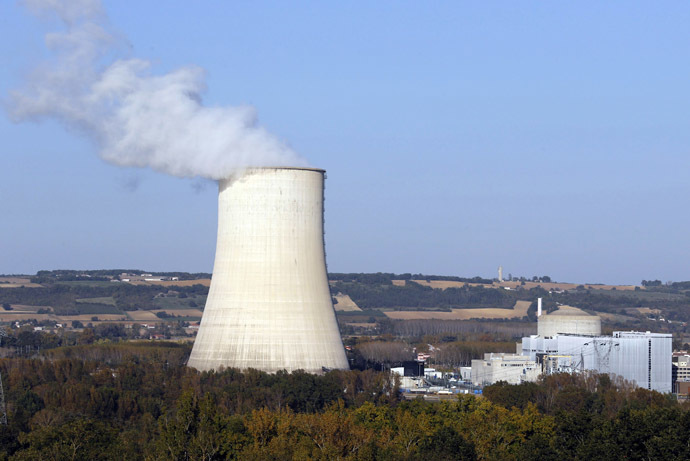 View of the cooling towers at the Golfech nuclear plant on the border of Garonne river between Agen and Toulouse, southwestern France (Reuters)