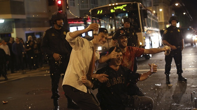 Gunshot wounds, fights with police: San Francisco riots after Giants win World Series