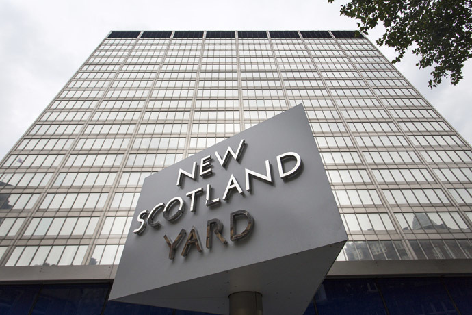 Britain's Metropolitan police headquarters, also known as Scotland Yard, is pictured in central London. (AFP Photo/Jack Taylor)