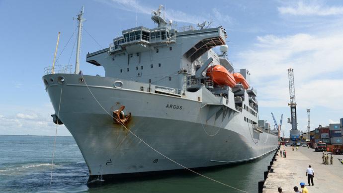 Ebola hospital ship docks in Sierra Leone in UK aid effort