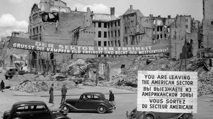 Berlin, straight after the partition in 1945 (image from www.history.co.uk)