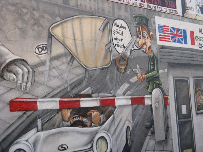 A mural dedicated to Heinz Meixner's escape in Berlin (Image from placetobe.info)