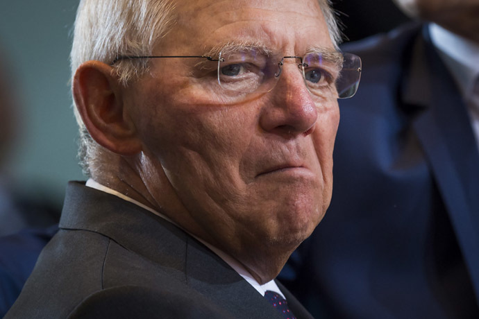 German Finance minister, Wolfgang Schaeuble. (AFP Photo)