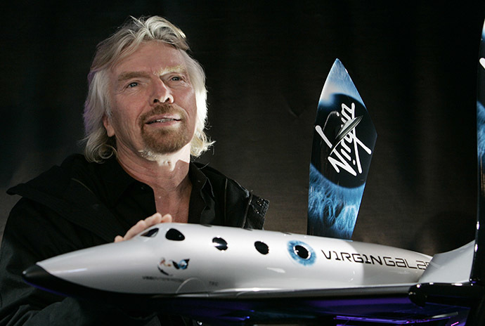 Sir Richard Branson, founder of Virgin Galactic. (AFP Photo/Stan Honda)