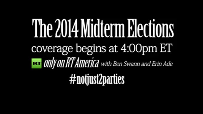 #Notjust2parties: RT America presents special coverage of 2014 midterm elections