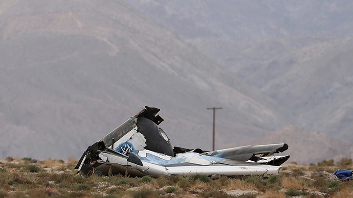 Virgin Galactic's SpaceShipTwo crash. (Reuters/Lucy Nicholson)