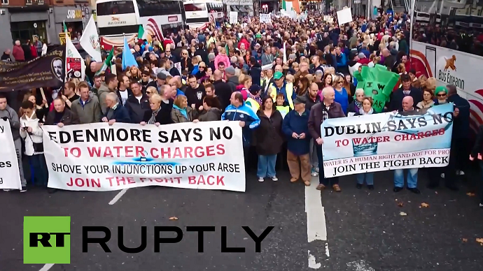 'Water not for sale': Ireland stands up against water tax, tens of thousands march in protest