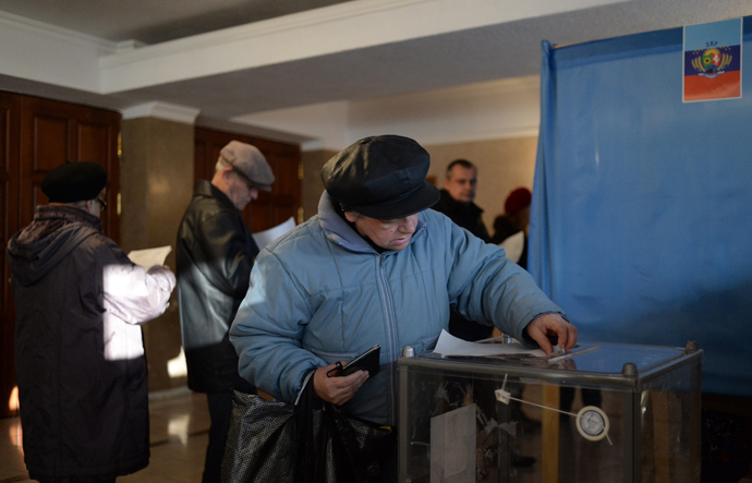 Voting in Lugansk People's Republic. RIA Novosti / Valery Melnikov