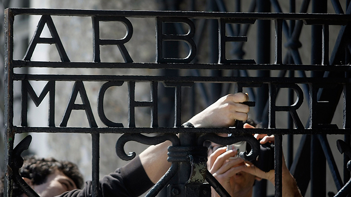 Nazi 'Arbeit macht frei' sign stolen from Dachau concentration camp