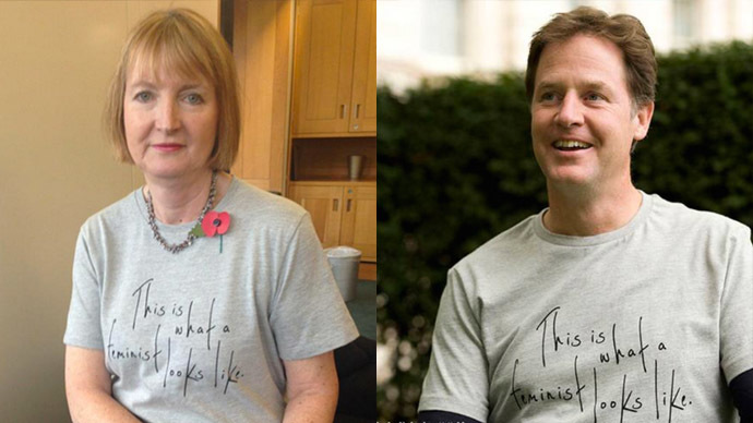 Top politicians wore feminist T-shirts made by women making less than $1 an hour