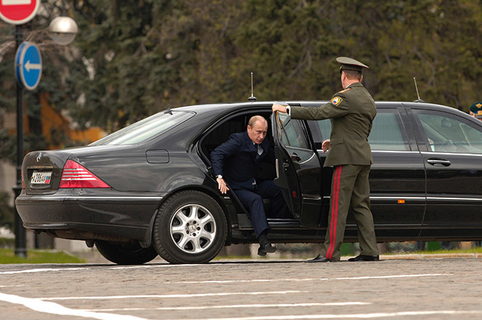 Russia's President Vladimir Putin arrives to Ivanovskaya Square, Kremlin. (RIA Novosti/Sergey Guneev)