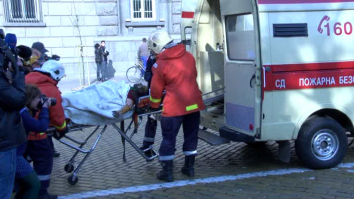 ​Bulgarian woman sets herself ablaze outside president's office (GRAPHIC VIDEO)