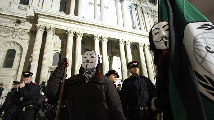 Anonymous Now: Million Mask March descends on London