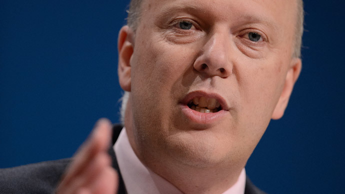 Justice Secretary, Chris Grayling.(AFP Photo / Leon Neal)