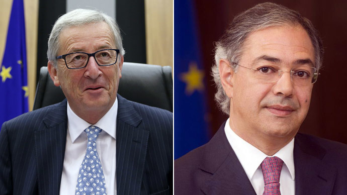 Jean-Claude Juncker and Vitor Caldeira.(Reuters / Francois Lenoir / eca.europa.eu)