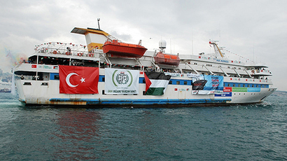 File picture shows an undated image taken from the Free Gaza Movement website on May 28, 2010 of the Turkish ship Mavi Marmara taking part in the