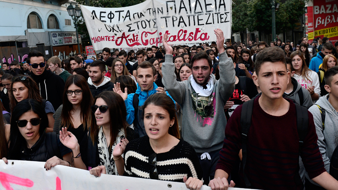 Greek students rage against educational reforms (VIDEO)
