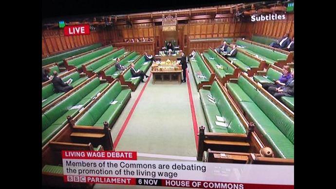 MPs snub living wage debate, US socialist leader backs £10/hour in UK