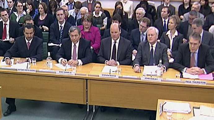 The Treasury Select Committee in London. (Reuters / Parbul TV)