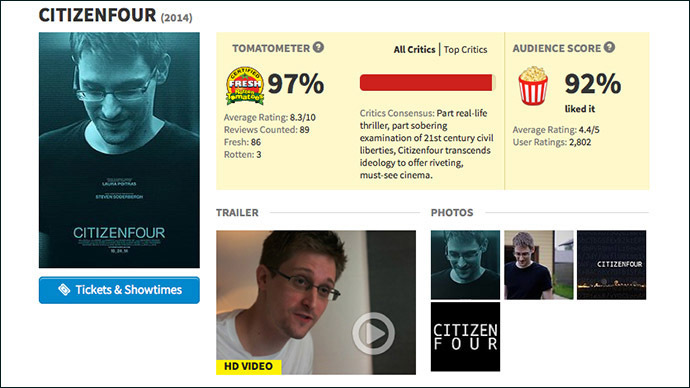 Screenshot from rottentomatoes.com
